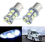 FidgetFidget 2X White Interior 1156 LED Dome Sleeper Cab Light Bulb for Freightliner Cascadia