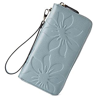 BOSTANTEN Womens Leather Clutch Wallets Wristlet Long Card Holder Light Blue (B01LZS8TPH) | Amazon price tracker / tracking, Amazon price history charts, Amazon price watches, Amazon price drop alerts