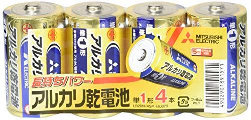 三菱電機 アルカリ乾電池 単1形 4本パック LR20N/4SP