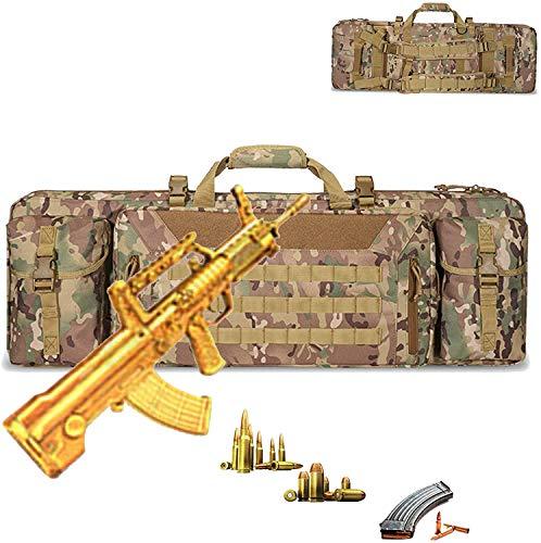 WSVULLD Estuche para Pistola Airsoft De Alta Capacidad, Bolsa para Rifle De Aire Impermeable Y Resistente Al Desgaste, Protección De Compartimento Intermedio, Artes Marciales, Diseño, Caza