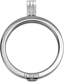 Quiges Stainless Steel Interchangeable 33mm Coin Holder for Women
