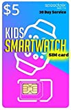 SpeedTalk Mobile $5 Preloaded SIM Card Kit for GSM 5G 4G LTE Kids Smart Watch GPS & Activity Tracking   3 in 1 Simcard - Standard, Micro, Nano   Kids Smartwatches Wearables   30 Days Service Plan