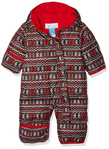 Columbia Schneeanzug für Kinder, Snuggly Bunny Bunting, Polyester,  - Rot, Rot (Red Element Zigzag, Red Spark) - 12/18 months