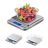 VADIV Balance de Précision 3kg/0.1g, KS01 Mini Balance de Cuisine Électronique Précise à 0.1g Pèse Balance Cuisine Numérique...