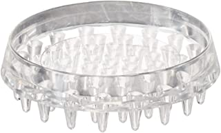 Shepherd Hardware 9082 1-7/8-Inch Spiked Furniture Cup, Clear Plastic, 4-Pack