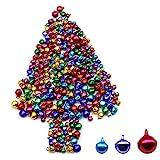 Dylan-EU 500 Piezas Mini campanas metálicas Cascabeles multicolor 6 / 8 / 10mm...