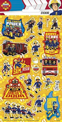 TrendyMaker Fireman Sam, Feuerwehrmann Sam Sticker, Aufkleber, 25 Glitzer Sticker, passend für Freundebuch, Tagebuch, Mitgebsel, Schultüte ...