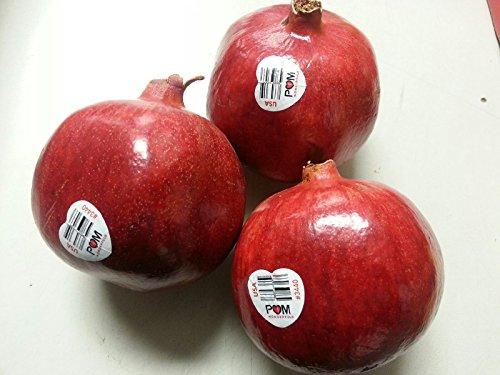 Set of 3 Fresh Pomegranate POM Wonderful XL  Jumbo