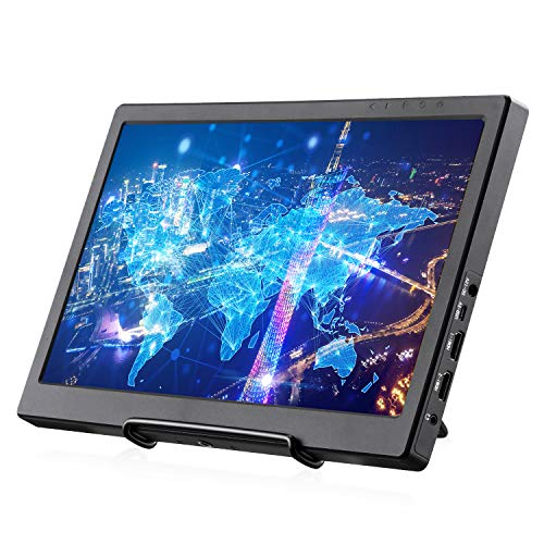 KALESMART Portable Monitor 13.3 Inch IPS 1920X1080 Dual HDMI Port FHD Gaming Monitor Raspberry Pi Display with Speakers for Raspberry Pi PS4 WiiU Xbox One S Windows 7/8/10