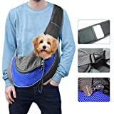 Pet Dog Sling Carrier Hands-Free Puppy Carrying Bag Breathable Comfortable Outdoor Travel Walking Subway
