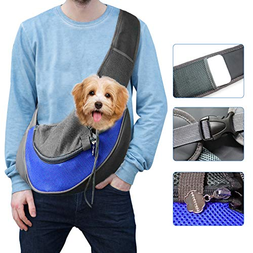 Tauner Pet Dog Sling Carrier Hands-Free Puppy Carrying Bag Breathable Comfortable Outdoor Travel Walking Subway
