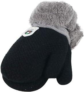Auxma Baby Kids Snow Gloves Cartoon Mitten Winter Warm Gloves With Line String