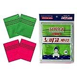 Italy Towel NOPIGO The Original Korean Exfoliating Mitt Body Scrub Green(2) & Red (2) -4 Pack