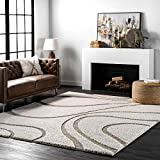 nuLOOM Carolyn Cozy Soft & Plush Shag Rug, 5' 3' x 7' 6', Cream