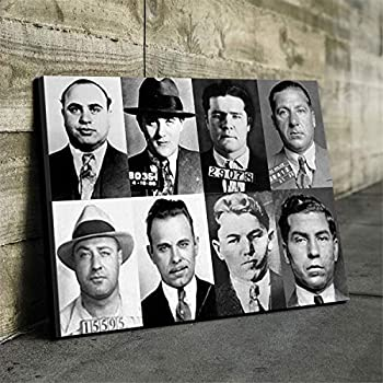 DOLUDO Painting Canvas Public Enemies Movie Posters Prints Painting Pictures Wall Art for Living Room Bedroom Home Decor New Year s Gifts Artwork No Frame 24x32inch