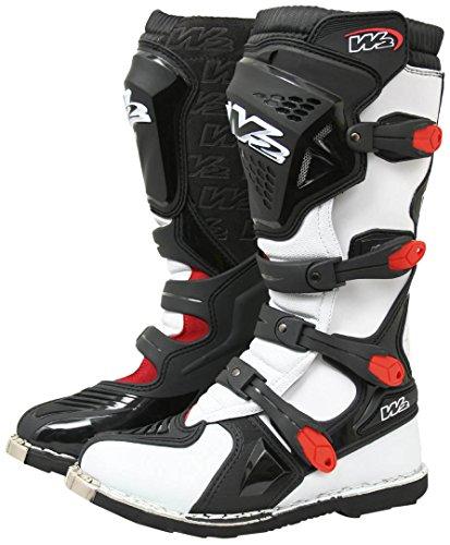 W2 Boots–Stiefel Moto 47 weiß/schwarz