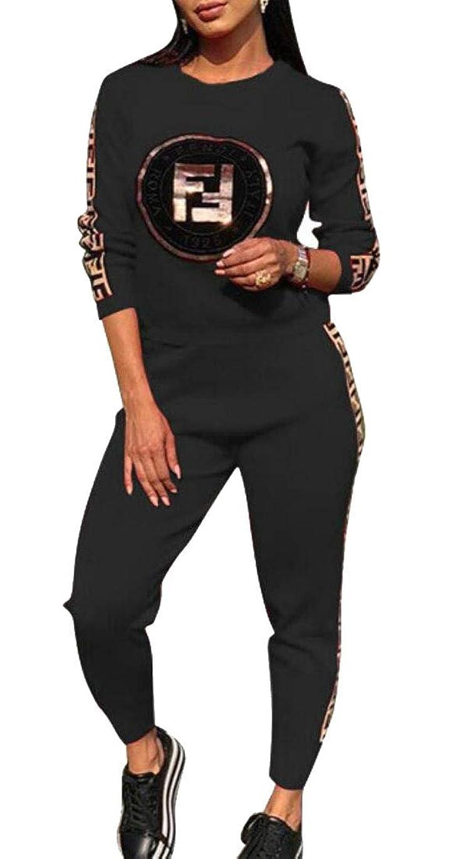 かすかなアーチしたがって女性の2つの部分服装スウェットシャツと長いパンツトラックスーツセット