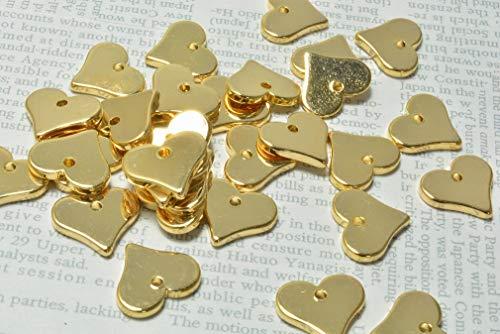 ビーズクラブ ゴールド ハート プレート メタル チャーム 8個 11mm ピアス イヤリング パーツ ネックレス ハンドメイド DIY