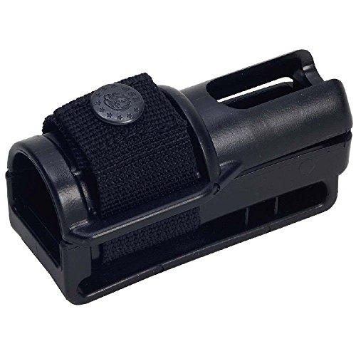 Haller 76220 Gürtelhalter für Schlagstock Outdoormesser, Schwarz