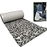 Yuanjiasheng EVA Faux Teak Deck Sheet UV Resistant Non-Slip Mat Boat/Yacht Marine Flooring 94'×23.6' (Black and White Camouflage)