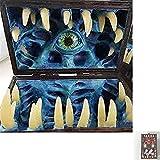 Legendario cofre de dados de imitación: caja de almacenamiento de dados de cofre de imitación, mazmorras y dragones, juego de roles, juegos de mesa, Pathfinder, tiene capacidad para 7 dados individual