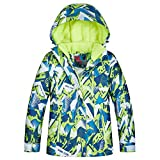 LSHEL Chaqueta de esquí infantil con capucha, resistente al viento e impermeable, para niña Color F 134/140 cm