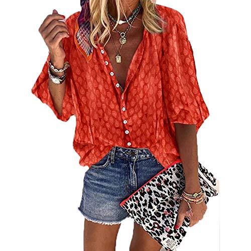 SLYZ Europäische Und Amerikanische Frauen Sommer Große Mehrfarbige Blusen Mode T-Shirt Blusen