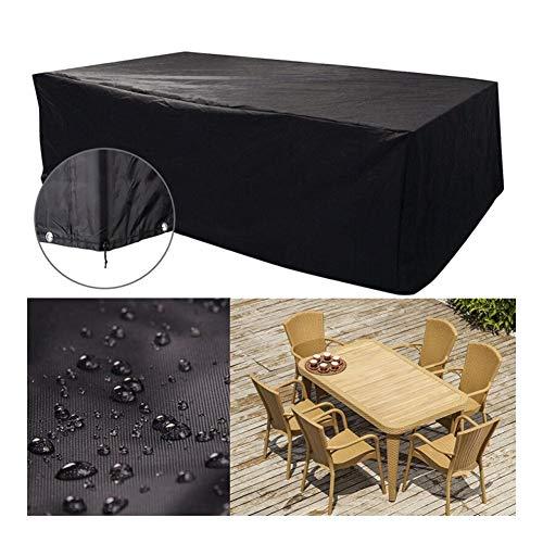 WKZWY Draussen Gartenmöbel Abdeckung Wasserdicht Staubdicht Sonnenschutz Sofa Mechanisch, 24 Größen (Color : Schwarz, Size : 100X100X120cm)