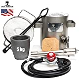 USA Cast Master 5 KG DELUXE KIT Propane Furnace with Crucible and Tongs Kiln...