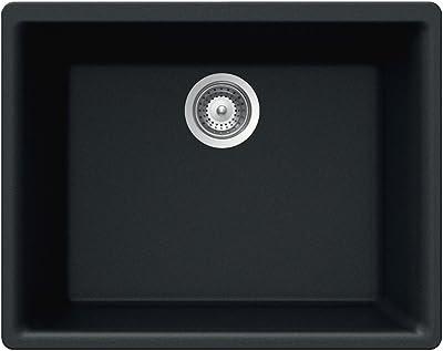 Houzer Galaxy N-100U MAGMA Galaxy Series Undermount Granite Single Bowl Kitchen Sink, Magma