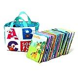 Schimer Lerne Buchstaben ABC-Lernkarten der Tiere, Bildkarten, Wortkarten, Flash Cards mit Groß- und Kleinbuchstaben | Lesen Lernen mit Tieren für Kinder im Kindergarten, 26-teilig