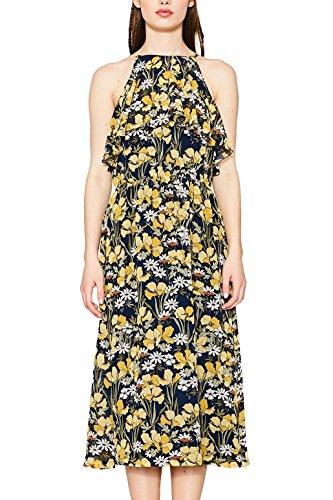 edc by ESPRIT Damen 067CC1E011 Kleid, Blau (Ink 415), 40