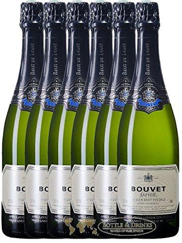 Bouvet Saphir Vintage Blanc Brut aus Frankreich 6 x 0,75 Liter