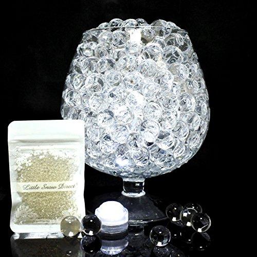 Wady 10 Packs Clear Water Beads Bio Gel Aqua Gel Crystals Jelly Crystal Wedding Vase Decoration