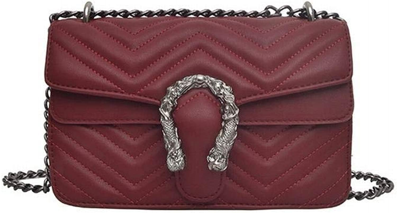 MAGAI Umhängetasche Umhängetasche Handtasche Modetrend Kettenhandtasche (Farbe (Farbe (Farbe   rot) B07P9QZCLL  König der Menge 353a0c