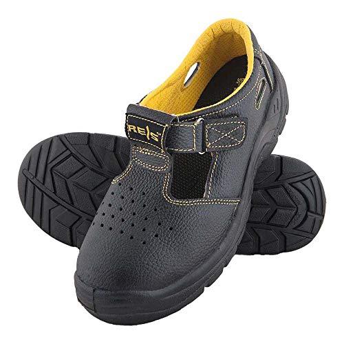 Reis BRYES-S-S1P_45 Yes - Zapatos de Seguridad, Color Negro y Amarillo, Talla 45