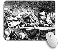 ECOMAOMI 可愛いマウスパッド フェルディナンド王とイザベラ女王の宮廷でのクリストファー・コロンブス 滑り止めゴムバッキングマウスパッドノートブックコンピュータマウスマット