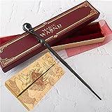 Harry Potter Wands Series Varita Fleur Delacour, Núcleo de Metal Colección Noble Varita de Juguete Núcleo de Metal con Caja de Regalo Mapa Aviso de admisión y boletos como Regalos