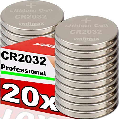 Kraftmax 20er Pack CR2032 Lithium Hochleistungs- Batterie für professionelle Anwendungen - Neuste Generation