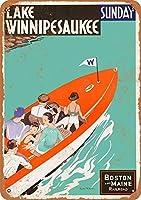 ウィニペソーキー湖ティンサイン壁鉄絵レトロプラークヴィンテージメタルシート装飾ポスターおかしいポスターぶら下げ工芸品バーガレージカフェホーム