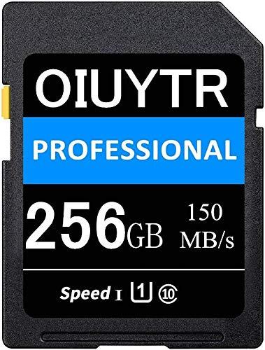 Scheda di memoria SDXC 256 GB SD card UHS-I SD Card Max 150 MB/S Velocità, C10, U1, 4K UHD, SD Card compatibile per computer/fotocamera, ecc. (256 GB)