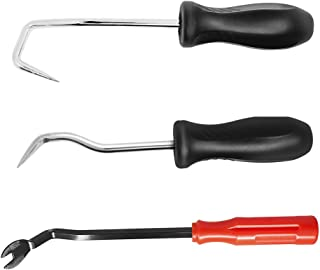 Hose Removal Hook Set with Fastener Remover, SourceTon 3 pieces Hook and Pick Set Radiator Vacuum Hoses Trim and Transmission O Ring Removal Tools