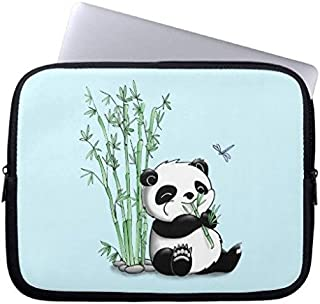 Eratio Panda Eating Bamboos Neoprene Laptop Sleeve 15 Inch MacBook Air Case MacBook Pro Sleeve and 15 Inch Laptop Bag