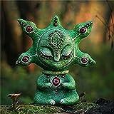 Créatures exquises dans monde fantastique,créatures faites à la main dans la décoration d'art monde fantastique,main dans le monde fantastique décor à la maison Vivd couleur jardin statue extérieure