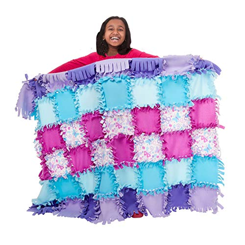 Melissa & Doug Created by Me! Butterfly Fleece Quilt No-Sew Craft Kit (48...