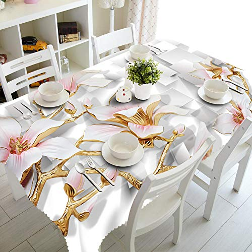 Cuadros Europeos Creativos Flores Rosas Mantel De Hule Cuadrado Limpiar Rectangular Mantel Impermeable para Jardín Cocina Impresión Al Aire Libre O Interior