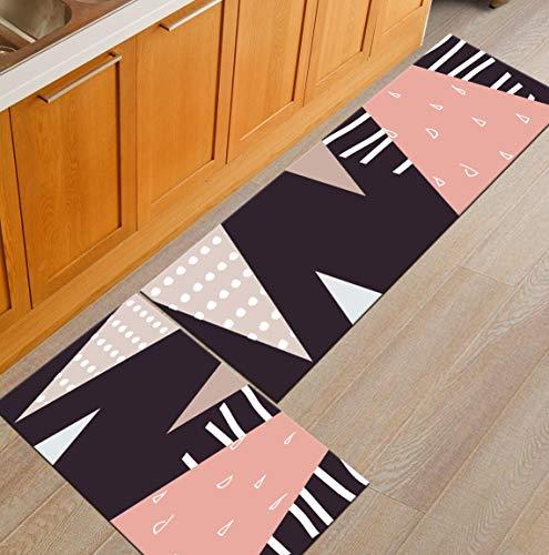Eingangstürmatte Teppich Bodenmatte Flur Home Decoration Crafts Geometrische Küchenmatte Anti-Rutsch-wasserdicht A15 40x120cm