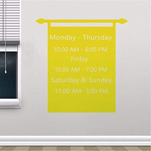 Horas De Trabajo Personalizadas, Calcomanía De Vinilo, Tienda, Tienda, Ventana, Pegatina, Horario De Trabajo, Cartel De Pared, Murales De Tiempo Personalizados Para Negocios, 70X72Cm