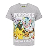 Pokemon Childrens/Boys Besties Forever T-Shirt (Years (5-6)) (Light Gray)