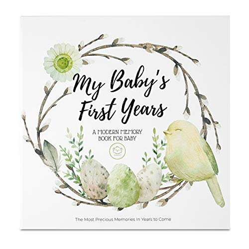 Baby First 5 Years Memory Book Journal - 90 Pages Hardcover First Year Keepsake Milestone Newborn...